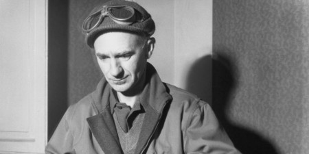 Pulitzer prize-winning reporter Ernie Pyle, who covered WWII both in Europe and the Paciific for Scripps-Howard newspapers with his portable typewriter. He was the most beloved newspaper reporter in the second World War. Photo provided