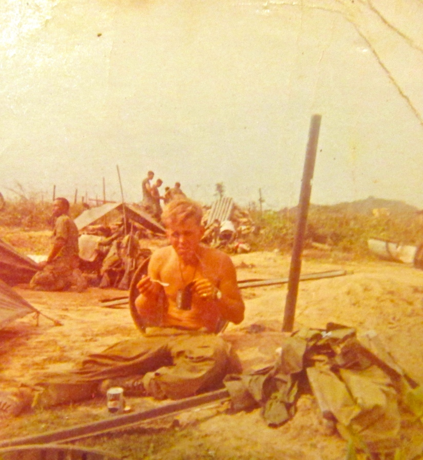 Dining in the field in Vietnam Sgt. Nord makes the best of his life on the front line. Photo provided