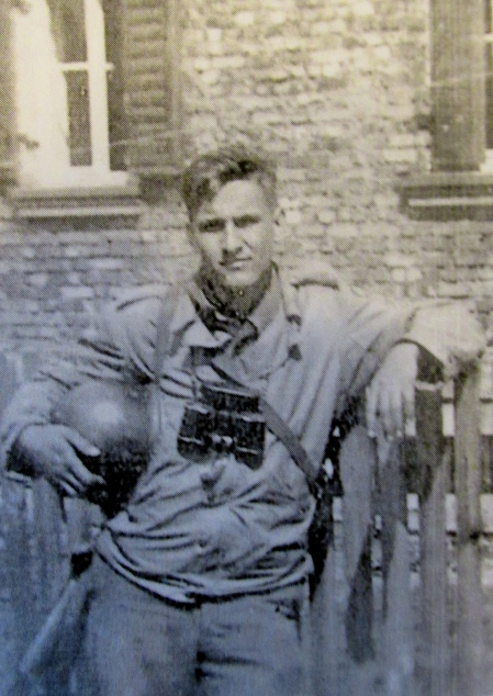 T-Sgt Ted Simis of Englewood , Fla. is pictured in Germany near the close of World War II. He was in the 12th Corps, Military Intelligence, with Gen. George Patton's 3rd Army. Photo provided