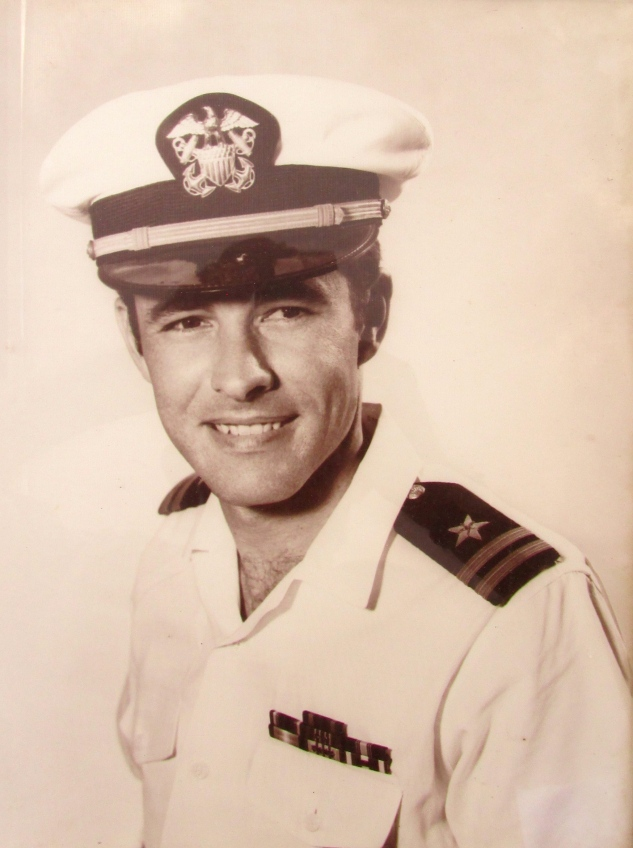 This is a picture of Riddle as a 1st Lieutenant in the U.S. Navy. It was taken shortly before he got out of the service in 1970. Photo provided