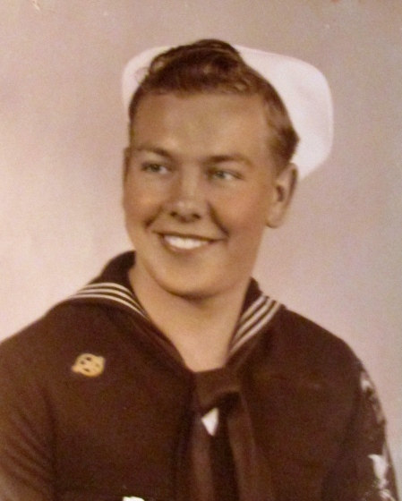 This is DuWayne Schoeneck of Englewood when he served as a ship's cook at the very end of World War II. He was 20 at the time and about to get out of the Navy in 1946. Photo provided