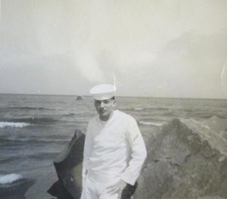 Machinest-mate Phil Harris at 19 in 1966 when he served aboard the destroyers USS Leonard F. Mason (DD-852) that rescued the two Gemini-8 astronauts Neal Armstrong and Scott Carpenter who landed off course in the Pacific. Photo provided