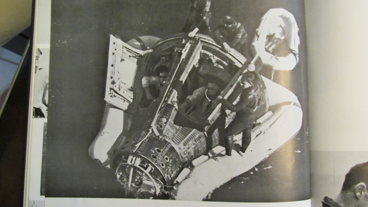Neal Armstrong and David Scott are headed for Formosa after being rescued by the crew of the USS Mason from their Gemini 8 space capsule in 1966. Photo provided