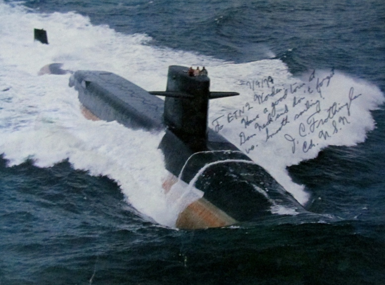 The USS James Monroe (SSBN-622) is shown on its shakedown cruise after leaving the Newport News Shipyard where she was built in the early 1960s. This was Stephen Worden's first sub. Photo provided.