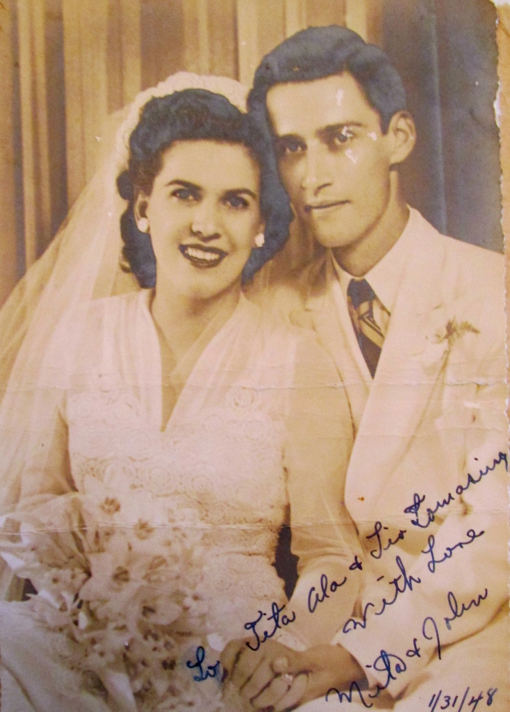 Adams and his wife, Carman, are pictured on their wedding day in 1948. Photo provided