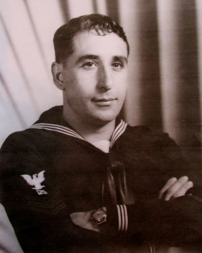 This was Art Nicholas in his 20s when he served aboard an LST during World War II. Photo provided