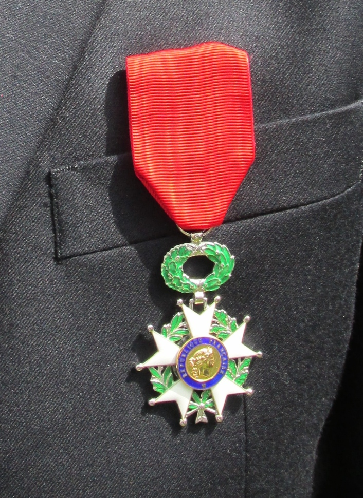 "The ""Knight of the Legion of Honor"" is the highest military decoration awarded by the French government."" Photo by Don Moore"