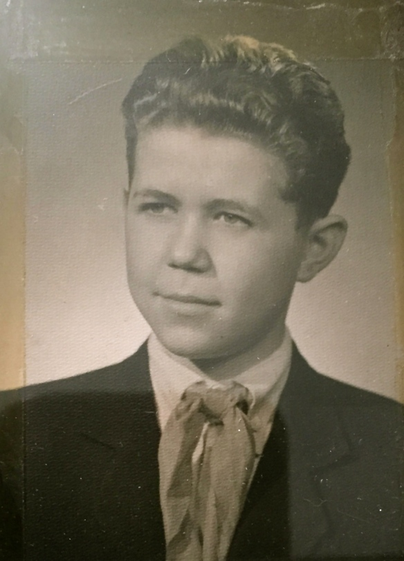Leslie is shown here at 15 when he and his father fought the Russians in the Budapest uprising. Photo provided