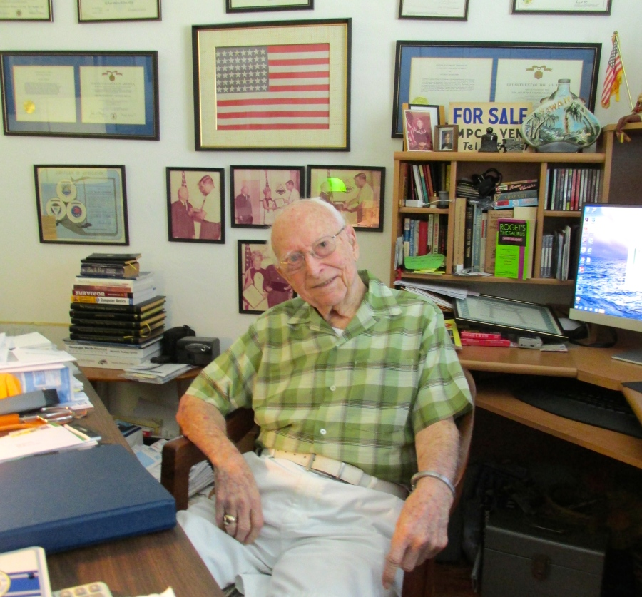 This is Bill Richardson today at his Port Charlotte home. He will be 100 years old on June 28. Sun photo by Don Moore