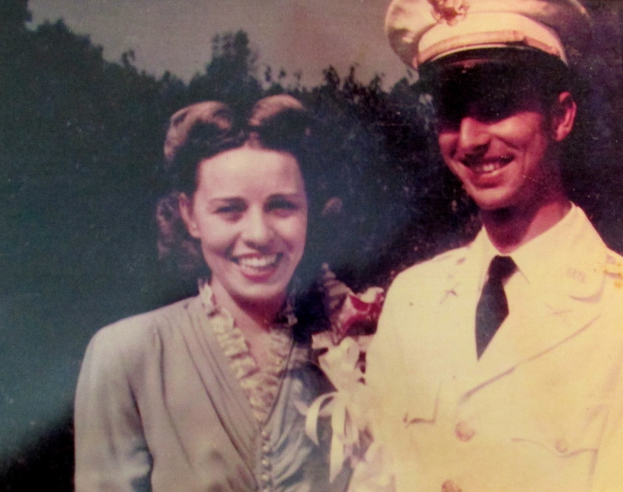 Eloise and Bill Richardson on their wedding day Aug. 31, 1943 at Fort Ritchie, Md. This August they will have been married for 73 years. Photo provided