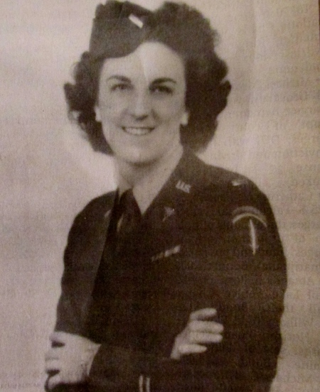 2nd Lt. Ozzie Nelson is pictured in her Army uniform shortly after she joined the nursing corps during World War II. Photo provided