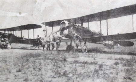 Student aviators get ready to take to the air in their Curtiss JN-4 Jenny two-seater bi-planes at Carlstrom Field in 1918 near Arcadia, Fla. It was one of the few communities in Florida that had two Army airfields in World War I. Photo courtesy of Historian U.S .Cleveland, Punta Gorda, Fla.