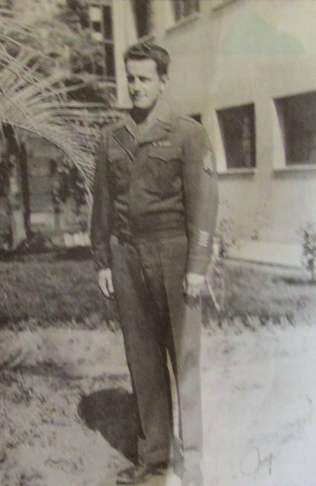 This was Jay Vredevoogd in 1944 when he was still serving with the 5th Army in Italy. Photo provided