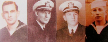 Fred Rieger and his three older brothers all served in the Navy in World War II. Howard at the far left enlisted the day after Pearl Harbor was attacked. Walter served on a sub, Robert was on an LST and Fred, at the far right, spent the last few months of the war on a minesweeper. Photo provided
