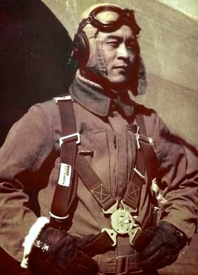 Ensign Saburo Sakai (1916-2000) who shot down Major Thomas McGuire in the Philippines was the leading Japanese fighter ace to survive the second World War. Photo provided