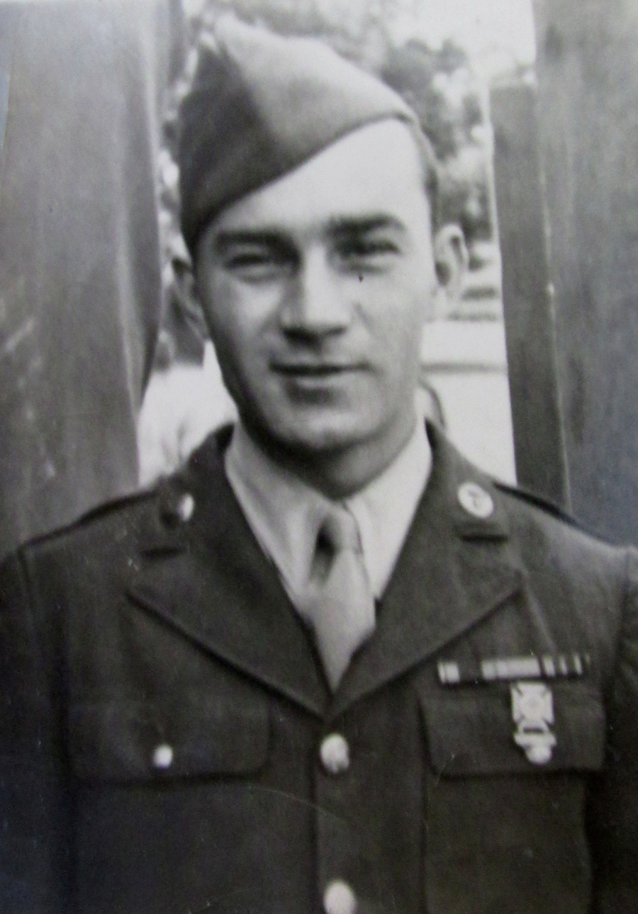 Pfc. Lavern Hampton of Port Charlotte in 1941 when he got out of boot camp at Camp Livingston, La. when he was 22 years old. Photo provided