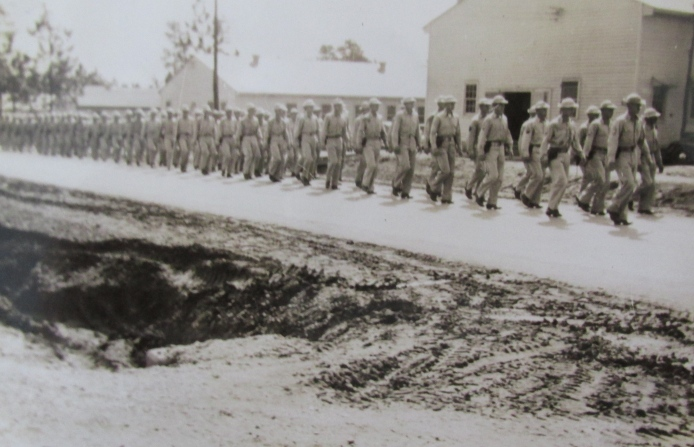 Learning to soldier with the 125th Infantry Division at Camp Livingston, La. before Pfc. Hampton was sent overseas with the 985th Ordinance Depot Co. to Europe. Photo provided