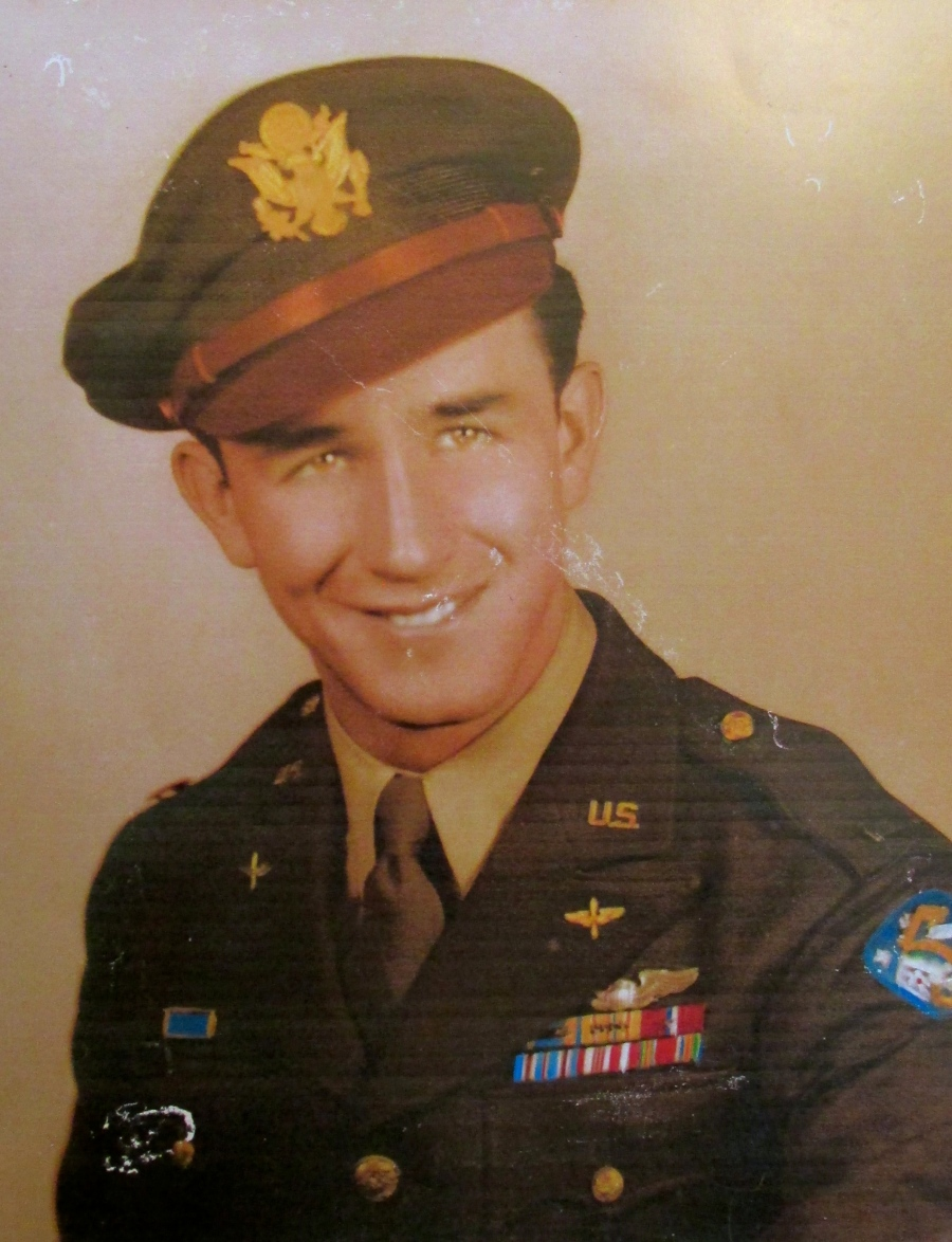 """2nd Lt. Jim Horner of Englewood is pictured during WW II when he was a B-24 """"Liberator"""" bomber pilot in the 5th Air Force in the Pacific during the war. He flew 46 combat missions in the Pacific. Photo provided"""