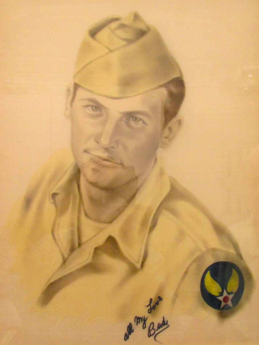 This sketch of Bud Jaderholm of Englewood drawn by a Japanese artist when he was in his early 20s and a private first class in the 677 Military Police unit located in Fukuoka more than 70 years ago during the occupation. Photo provided