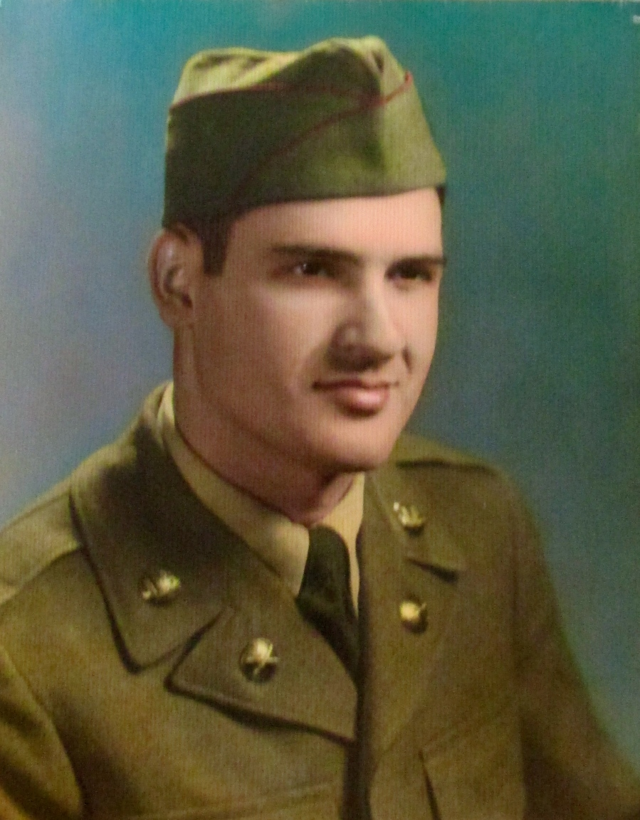 Frank Riposta in his early 20s about the time he got out of boot camp at Fort Chaffee, Ark. 1952. He was sent to Korea as a loader in a 105mm Howitzer artillery battery. Photo provided