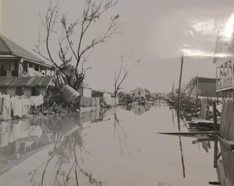 This was British Honduras after a hurricane wiped out the country in the early 1960s. Cheney was sent to the country to help establish radio communications with the outside world after the storm. Photo provided