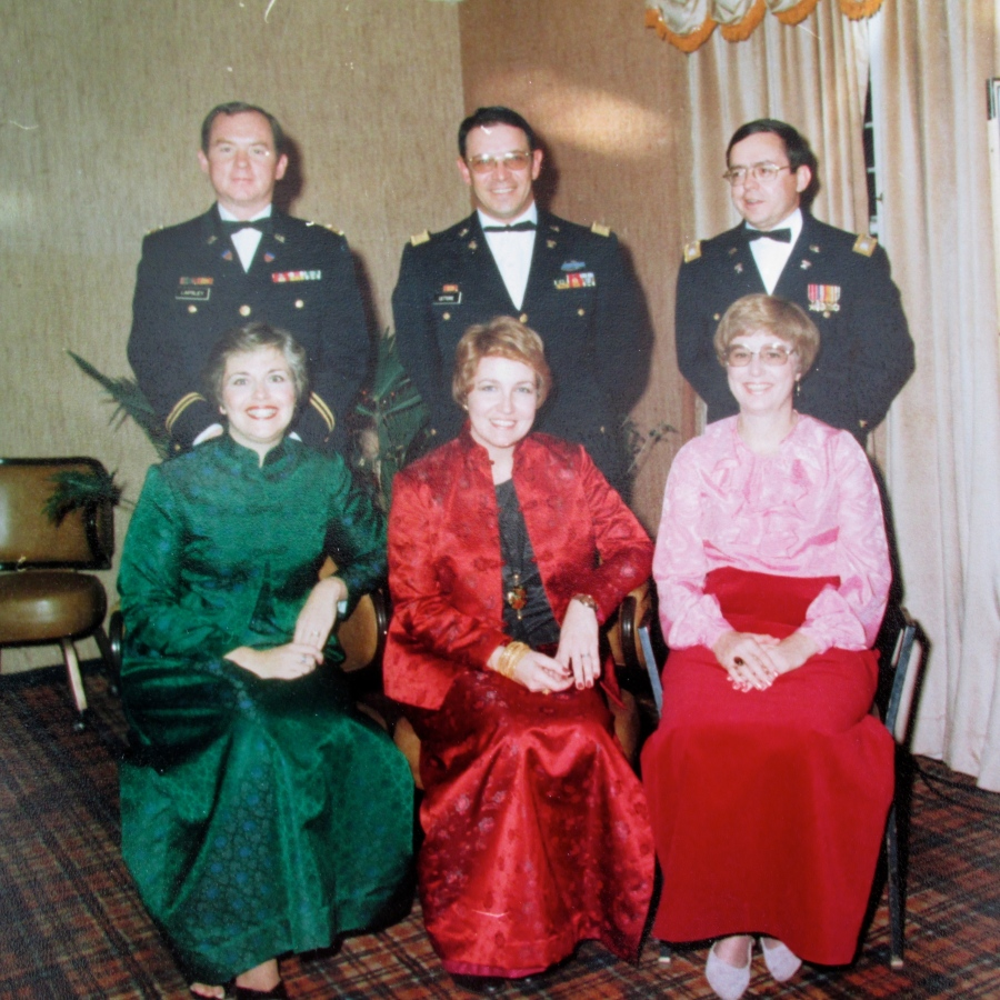 Letterie and his wife, Angela, is the couple in the center at a Christmas party held at the officers club in Korea in 1980. Photo provided