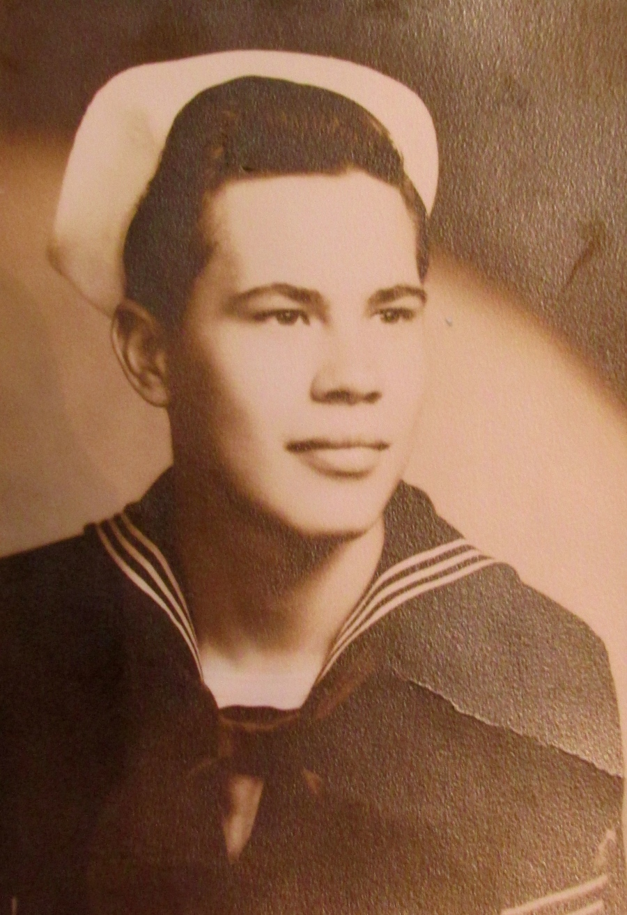 Arnold LeMoine of Deep Creek  had just graduated from Navy boot camp in 1951 when this picture of him in uniform was taken. Photo provided