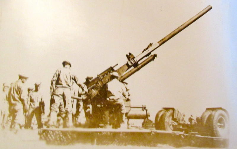 Lukas rammed the shells into a 90-millimeter gun like the one pictured during World War II. Photo provided