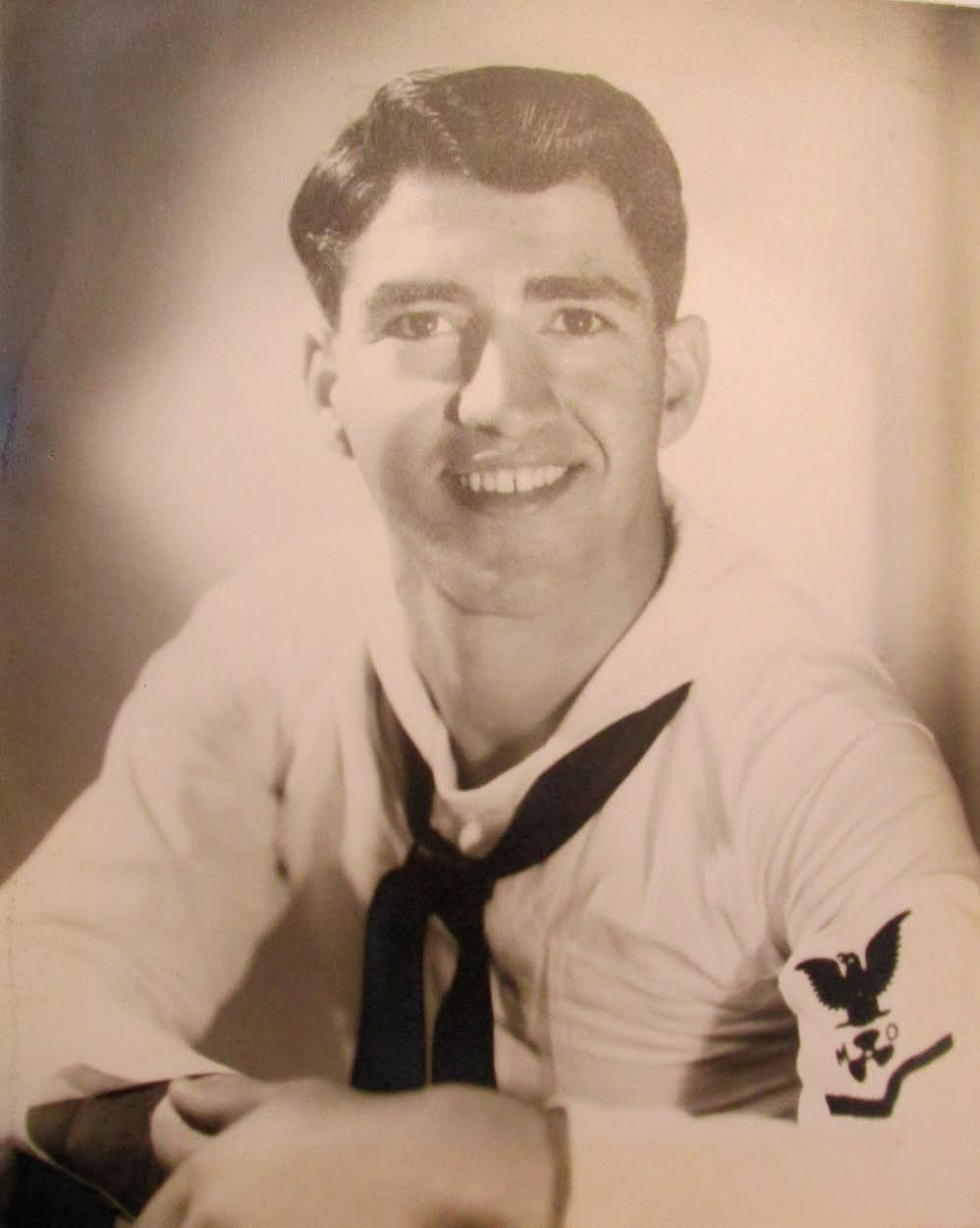Angelo Yerace was motor machinist aboard Landing Craft Tank at Normandy Invasion in WW II