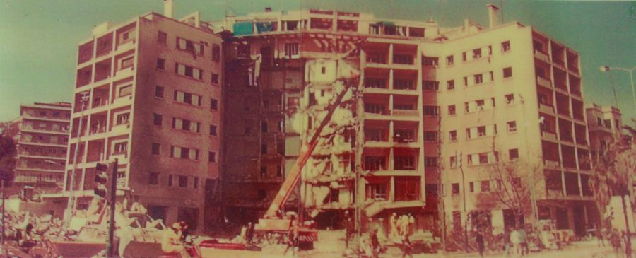 This was what the American Embassy in Beruit, Lebanon looked like after it was bombed by a terrorist truck bomber that killed 63 people, including 17 Americans, in February 1983 while Whisenant  was serving there in the Marine Corps. Photo provided