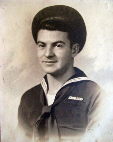 Radioman 3rd Class Chris Genovese is pictured in his early 20s after getting out of boot camp during World War II. Photo provided
