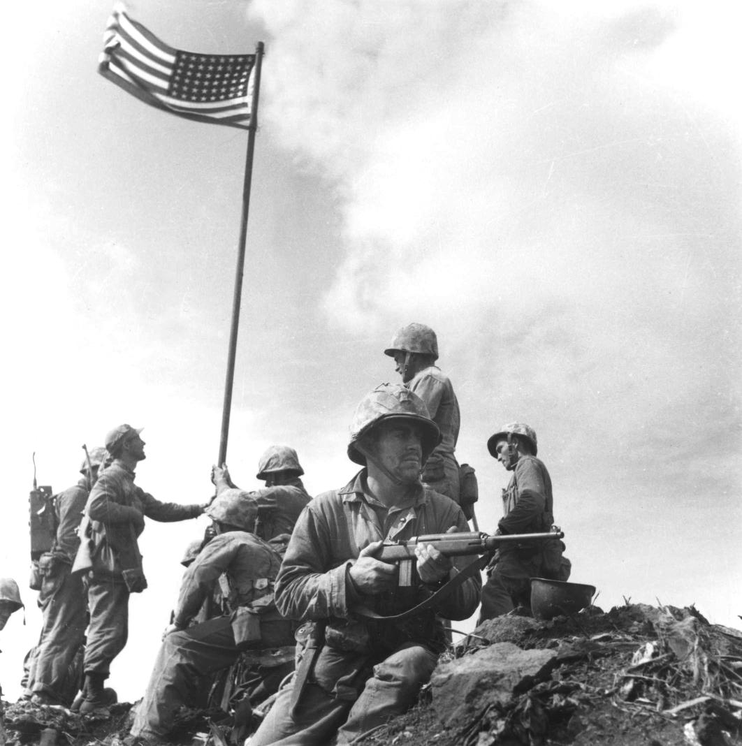He saw first Iwo Jima flag raisings | War Tales Raising