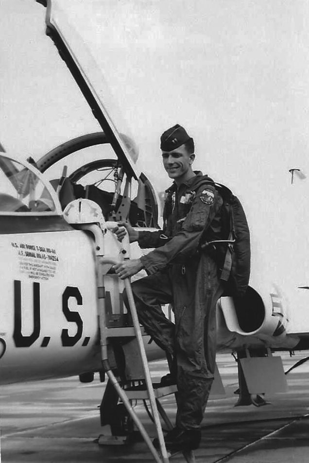 Hardy climbs aboard a T-38 twin-jet, supersonic trainer while taking pilot training at Craig Air Force Base in Selma, Ala. in 1967 before being assigned to a fighter squadron in Vietnam War. Photo provided